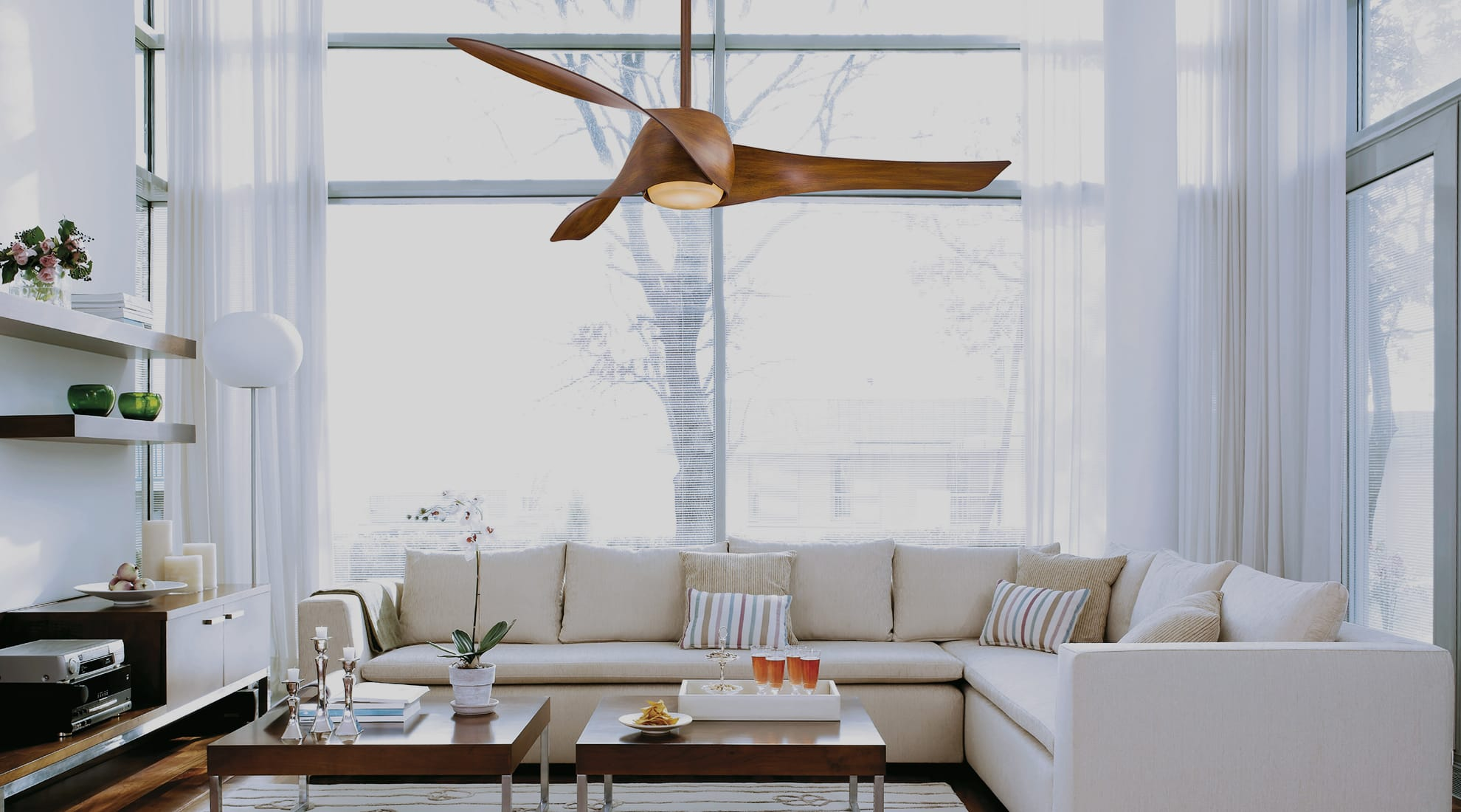 Small Industrial Ceiling Fan With Light